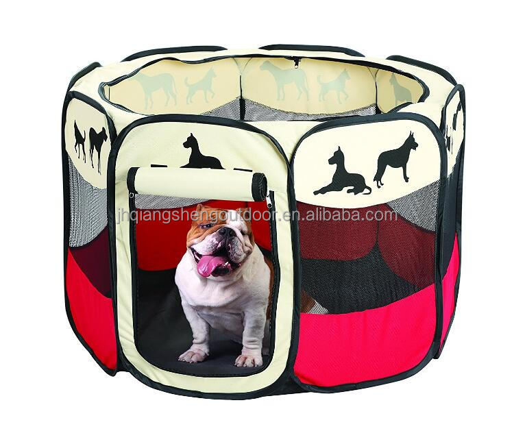 Portable Foldable Pet Playpen Indoor Outdoor Dog Cat Puppy Exercise pen Kennel Removable Mesh Shade Cover