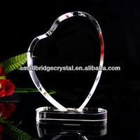 Blank K9 heart shape crystal trophy for wedding souvenir gifts