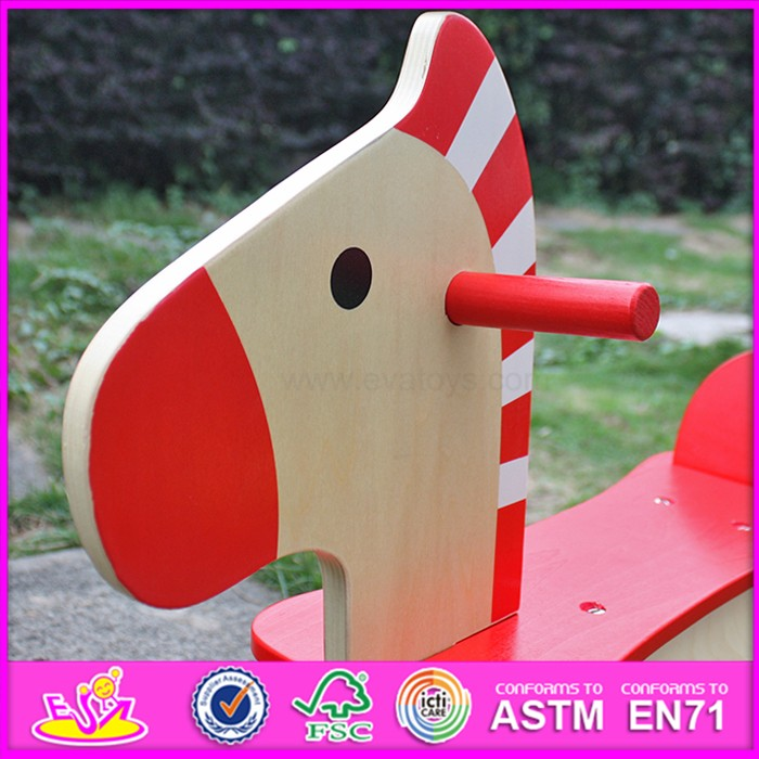 2016 new design baby funny toy wooden rocking horses for sale W16D088