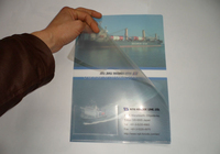 New style and popular PVC clear ultra-thin folder