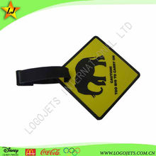 Soft PVC luggage tag 3d soft pvc luggage tag