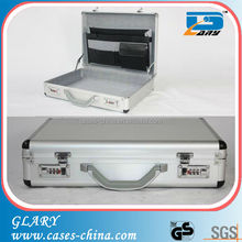 High quality real aluminum men briefcase