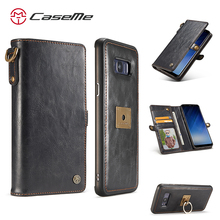 CaseMe new design for Samsung Galaxy S8 leather case,mobile phone accessories, leather wallet case