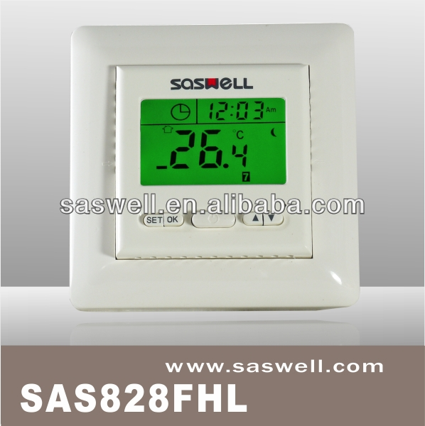 Two pole isolate power switch 16A non programmable electrical heatng thermostat