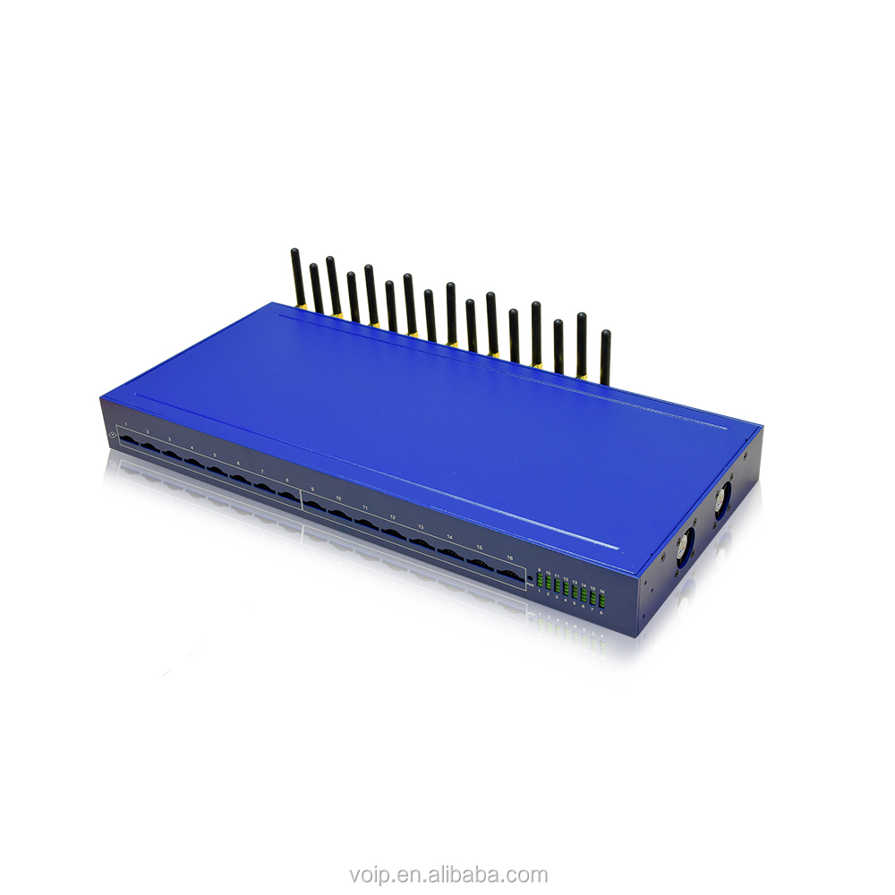 4G LTE 16 port voip gsm gateway for non cli route 16 sim voip gateway