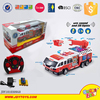 New plastic remote control fire engine toy for kids