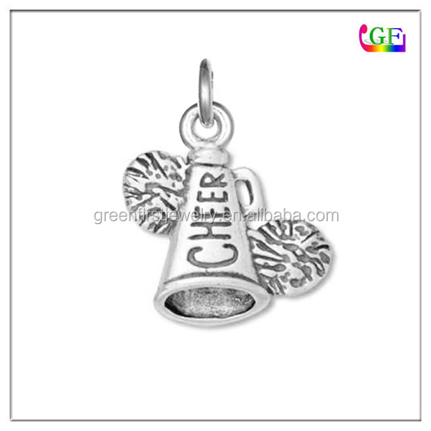 Custom logo cheerleader with pom charm