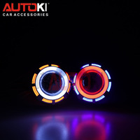 Autoki motorcycle car 3.0inch 2.5inch 2.0inch angel eye bi-xenon projector lens