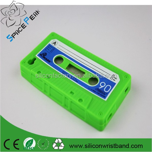 Mobile Phone Cases Stylish Cassette Tape Silicone Rubber Case Cover For Samsung Galaxy S4