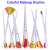10pcs Colorful Wool Fiber Hair Eyebrow Makeup Brush Sets