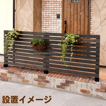 Paulownia wooden garden fence for hanging flowers