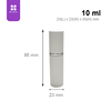 Promotional products 10ml glass cosmetic bottle aluminum aerosol can