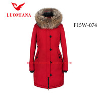 New fashion korea winter women jacket model ladies coats parka top branded clothing with fur hood