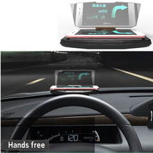 2016 Newest Design HUD Mobile Phone Display Holder HUD for GPS Head Up Display Car Holder For iphone Samsung Smart Phone