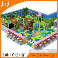 2016 baiqi Comfortable small playground plastic fence indoor