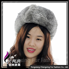 CX-C-26A Gray Full Rabbit Fur Women Russian Hat