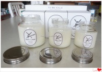 Scented Soy Wax Candle in Glass Jar with Metal Lid