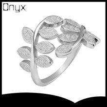 925 silver peace and love olive leaf adjustable open ended ring