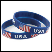 American Flag Bracelet Silicone National Flag