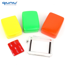 QIUNIU Fast Delivery Float Floaty Box and 3M Sticker and Waterproof Backdoor for GoPro Hero 3 Protective Housing Case