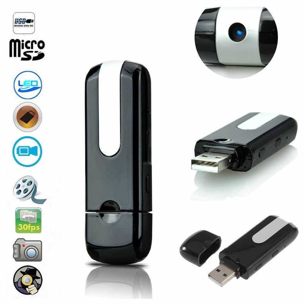 USB Disk Hidden Camera Spy Video Cameras for Sale Mini Pinhole Cam Surveillance Infrared DVR PQ129