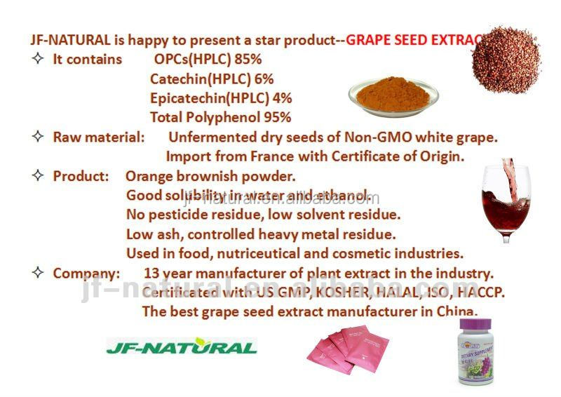 100% natural Functional powder OPC grape seed extract manufacture in China
