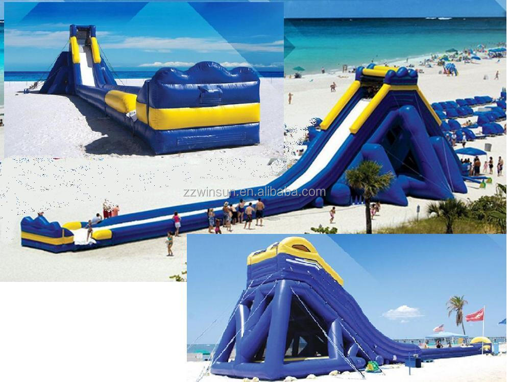 Giant adult inflatable slide, hippo water slide, Giant inflatable hippo slide for sale
