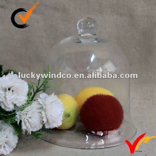 Factory price glass cover for perfume / cake
