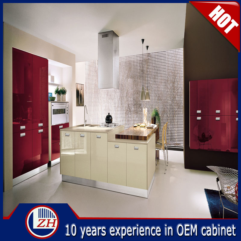 2016 Top Quality Cheap Modular Uv Kitchen Cabinets Small
