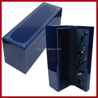 New design excellent single bottle wood gift wine box