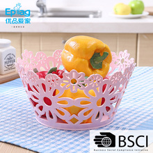 wholesale china new brand shunfu plastic hollow fruit basket with insect