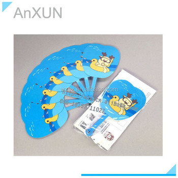Factory supply pp plastic handle folding promotion fan
