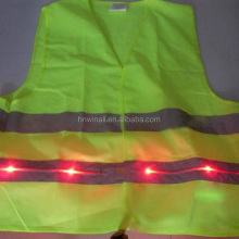 sleeveless fluorescence led cycling vest