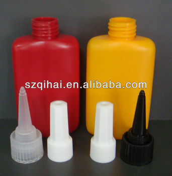 2017 New Design Plastic Anaerobic or UV Adhesive Glue Bottles