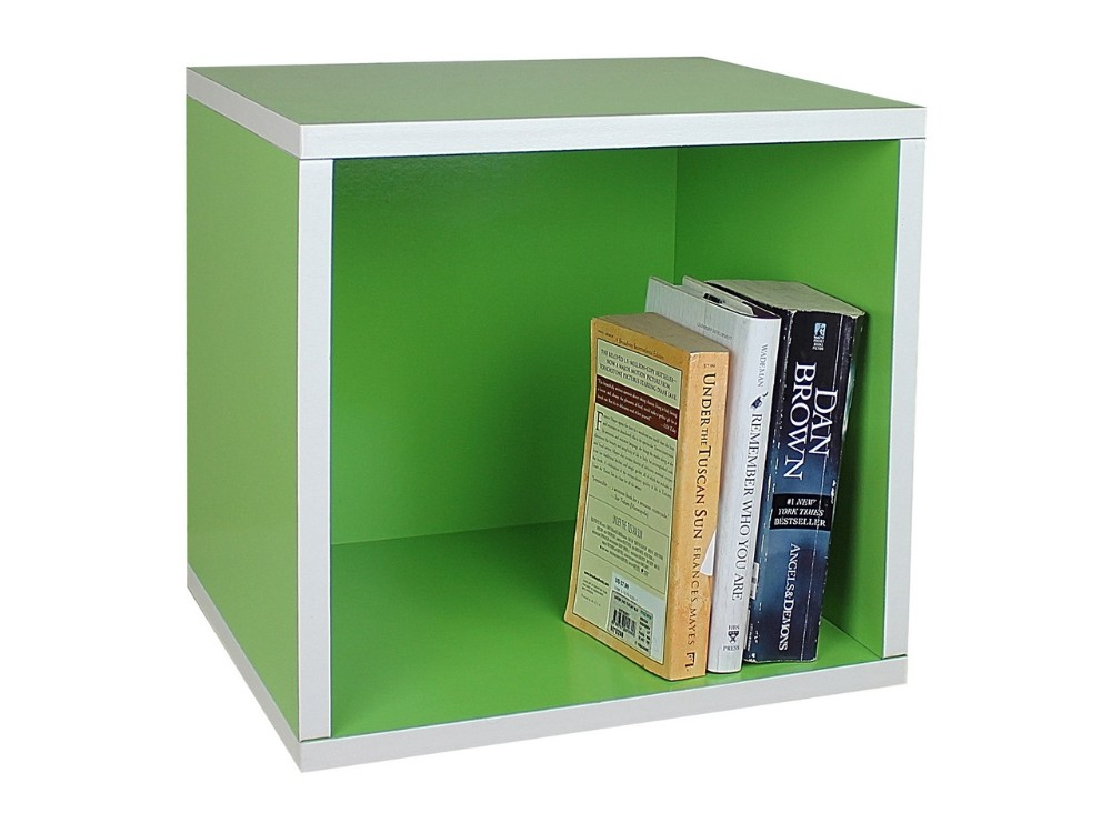 Green Colored Cardboard Square Divided Storage Box