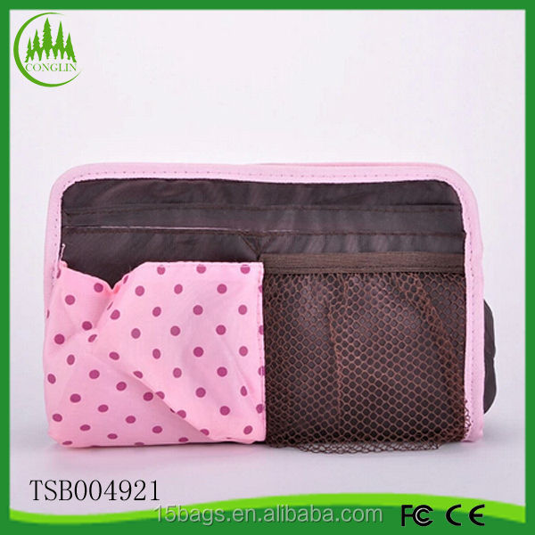 new product wholesale women fashion polyester Shopping cosmetic bags