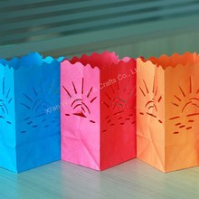 Colored luminary paper candle bags for light decoration