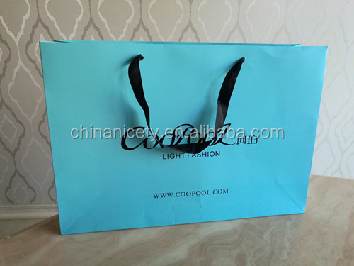 2016 newest customized paper shopping bag