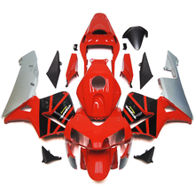 Fairings For Honda CBR600RR F5 03 04 2003 2004 Injection ABS Plastic Complete Motorcycle Fairing Kit Fittings Racing Red Silver