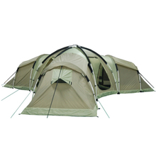 OEM big tent living tent 3 room camping tent 10 man to 12 man