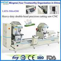 Double head mitre saw / cutting saw machine for upvc window making machine