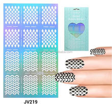 Nail Vinyls 20sylesHollow Irregular Stencils Stamp 13x8.5cm Nail Art Hollow Sticker Tips for Nail Art