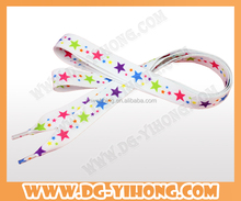 Eco-friendly Custom Flat Metal Tips custom Printed Polyester bulk Shoelaces