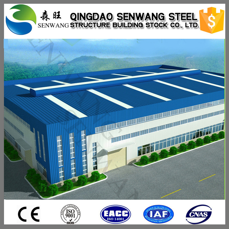Low price prefabricated steel building warehouse
