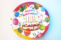 18cm Diameter Custom Printed High Quality Birthday Party Disposable Paper Plates