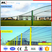 Garden Galvanized Chain Link Fencing 3D V Shape 358 Security Prison Profile Welded Fence Double Twin PVC Coated Wire Mesh Fence