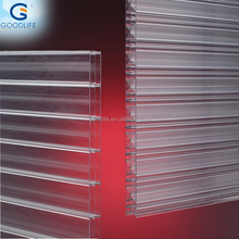 8mm thick building materials polycarbonate four-wall hollow sheet/plastic sheet for commercial greenhouse