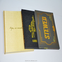 Professional customized high quality gold foil hardcover book with embossing