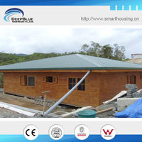 steel structure small bali prefab wooden houses