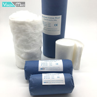 Paper wrapped medical absorbent cotton wool roll